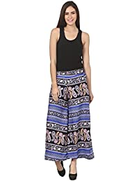 Vogue Nation Blue & Black Paisley Print Women's Palazzo In Regular Fit