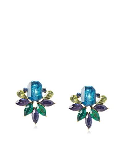 Leslie Danzis Jeweled Cluster Post Earrings As You See