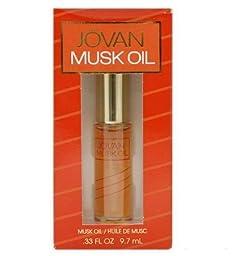 Jovan Musk Bath Oil by Jovan, .33 oz Oil with Applicator for Women