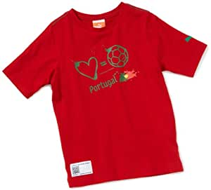 Puma Boys' T-Shirt Love=Football Country chili pepper-portugal Size:128