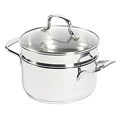 SALT 3-Piece 3 qt. Stainless Steel Covered Soup Pot