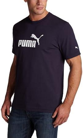 (超值)Puma彪马Young Men's No. 1 Logo Tee男子纯棉短袖T恤蓝色和黑色$12.09