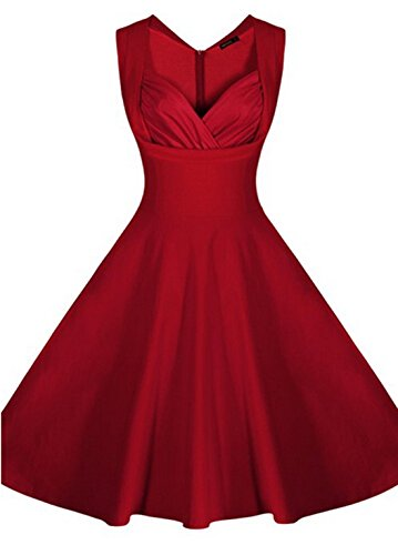 Relipop Women's Cut Out Vintage Dress Sleeveless Retro Party Dresses (Small, #2