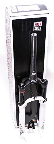 """RockShox Sid XX World Cup Solo Air 100 Suspension Bicycle Fork with 9QR White Motion Control DNA XLoc Sprint Remote Right Carbon Steerer Tapered Disc, 29"""""""