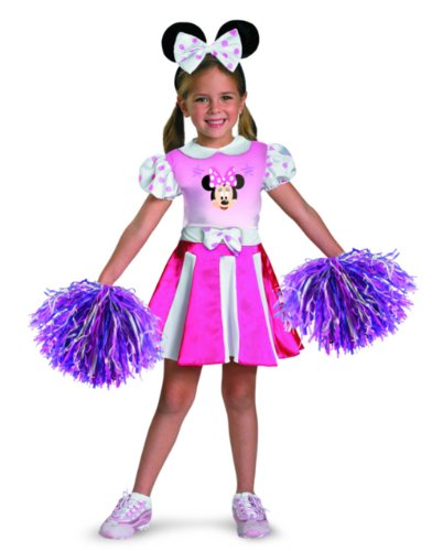 Minnie Mouse Cheerleader Toddler Costume Size 3T-4T