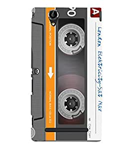 Fuson Premium Back Case Cover Cassette With Multi Background Degined For Sony Xperia T2 Ultra::Sony Xperia T2 Ultra Dual