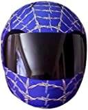 SkullSkins Wired Web Motorcycle Helmet Street Skin (Blue)