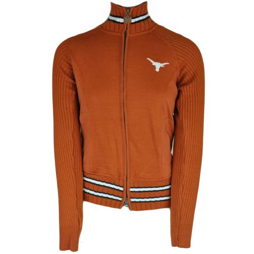 NCAA Alyssa Milano Texas Longhorns Womens Full Zip Sweater Jacket Touch Large LG at Amazon.com