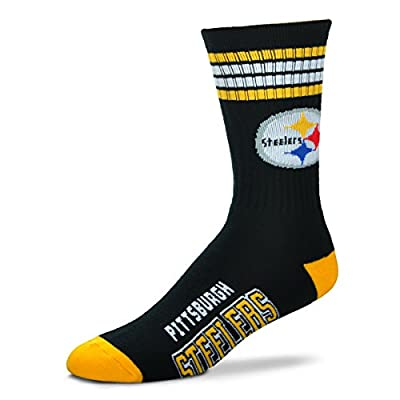 Pittsburgh Steelers 4 Stripe Deuce Black Socks