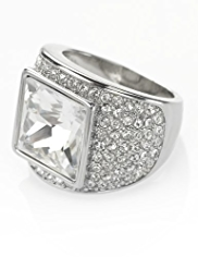 Autograph Diamanté Pave & Square Gem Ring MADE WITH SWAROVSKI® ELEMENTS
