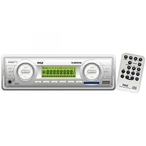 Pyle PLMR89WW Marine Flash Audio Player - 160 W RMS - Single DIN LCD Display - MP3 -... by Pyle