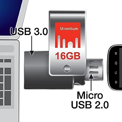 Strontium Nitro Plus 16 GB OTG USB 3.0 Pen Drive