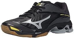 Mizuno Men\'s Wave Lightning Z2 Volleyball Shoe, Black/Silver, 8.5 D US