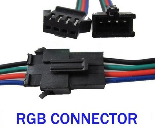 Hkbayi 5Sets / 5Pair Led Strip Connector 4Pin 150Mm Wire Male/Female Rgb Connector Wire Cable For 3528 5050 Smd Led Strip