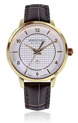 Marschall Original Damen-Funkarmbanduhr Analog Quarz Clasica Oro