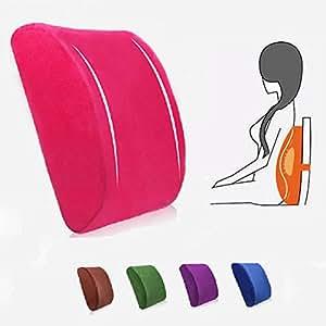 Buy Elastic Band Plush Memory Office Chair Cushion Lumbar Back Pillow Online