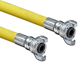 Goodyear Engineered Products Horizon 250 Yellow EPDM Jackhammer Hose Assembly, 3/4\
