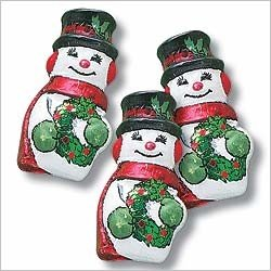 Christmas Snowman Solid Milk Chocolate (1 Lb - Approx 55 Pcs)