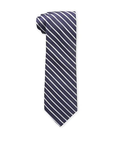 Bruno Piattelli Men's Classic Stripe Tie, Purple