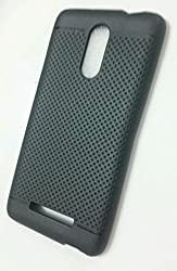 Premium Dotted Black Rubberised Soft Back Case Skin Cover For Xiaomi RedMi Note 3