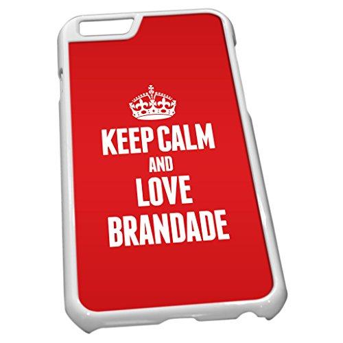 Blanc Coque pour iPhone 60855Rouge Keep Calm and Love brandade de Morue