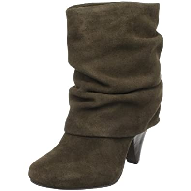 Steve Madden Women's Carlsen Ankle Boot,Olive Suede,11 US
