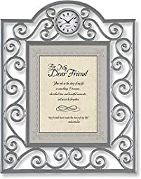 For My Dear Friend Table Clock Framed Table Clock General Verses Paper