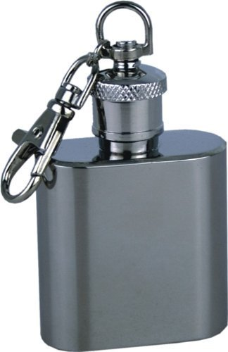 Personalised Engraved 1oz Hip Flask Keyring with FREE Engraving. Ideal wedding favour / fun gift.