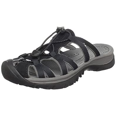 Keen Women's Whisper Slide Sandal,Black/Gargoyle,5 M US