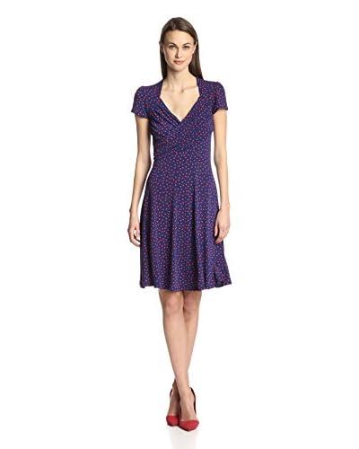 Leota Women's Dot Print Sweetheart Dress