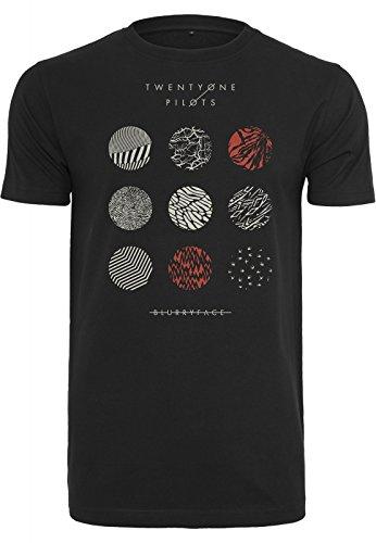 Urban Classics T-Shirt Twenty One Pilots Pattern Circles, Farbe:black;Größe:L