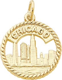 Chicago Skyline Charm by Rembrandt Charms