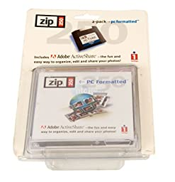Iomega 250MB Blister Zip Disk Cartridge with Adobe Activeshare (2-Pack)