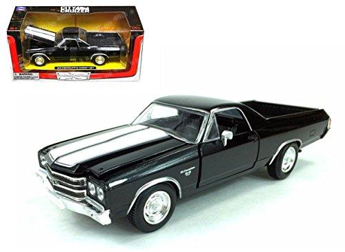 NEW 1:24 W/B NEWRAY CITY CRUISER COLLECTION - BLACK 1970 CHEVROLET EL CAMINO SS Diecast Model Car By NEWRAY (El Camino Model compare prices)