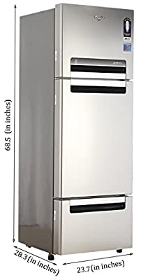 Whirlpool Fp 313D Protton Roy Multi-door Refrigerator (300 Ltrs, Alpha Steel)