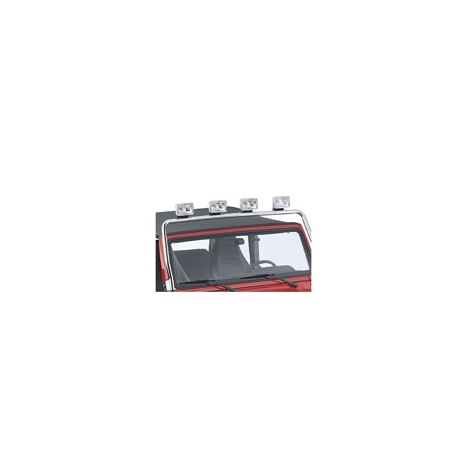 2000 2006 Jeep Wrangler Light Bar   Black