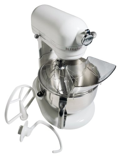 KitchenAid KT2651X Epicurean 475 Watt 6-Quart Stand Mixer, White