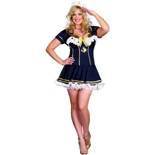 [Rockin' The Boat Costume - Plus Size 1X/2X - Dress Size 16-18] (Rockin The Boat Costumes)