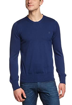 G-STAR Herren Pullover RCT Amos r knit l/s - 86900A.4426, Gr. 48/50 (M), Blau (pacific 1862)