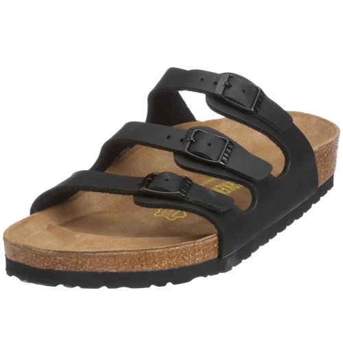 Birkenstock Florida Smooth Leather, Style-No. 54191, Women Clogs, Black, EU 36, normal width