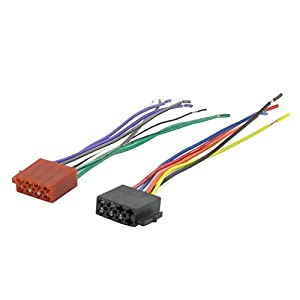 universal iso radio wire wiring harness adapter connector car adaptor