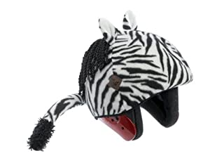 Zebra Helmet Cover (Lycra) - One Size Fits All (Kids + Adults) & All Sports... by Tail Wags Helmet Covers