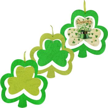 St. Patrick's Day Shamrock-shaped Glittery Spinners