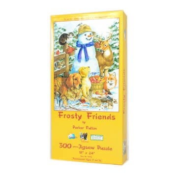 416WfplPFvL Buy  Frosty Friends 300pc Jigsaw Puzzle by Parker Fulton