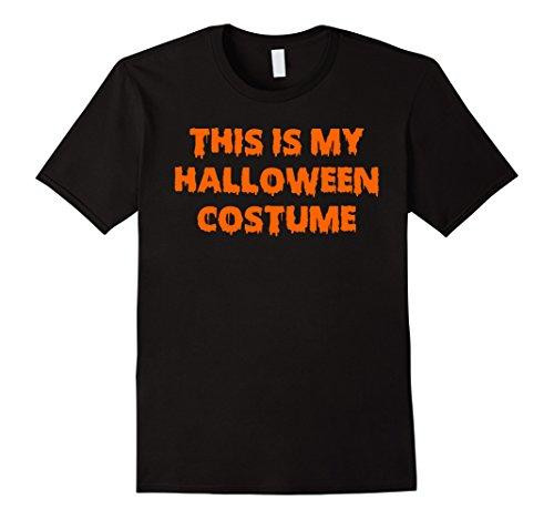 This Is My Halloween Costume Orange Font