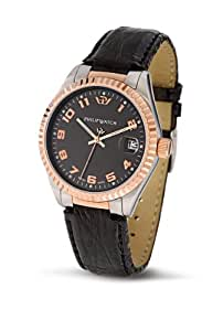 Philip Watch Caribbean Black Dial, Rose Gold Finishing and Black Strap