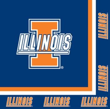 Creative Converting Illinois Fighting Illini Luncheon Napkins (20 Count)
