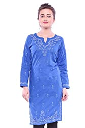 ADA Indian Handicraft Chikankari Fashion Casual Women Kurti Kurta Dress S99116