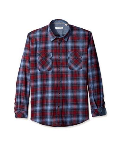 James Campbell Men's Plato Plaid Long Sleeve Shirt