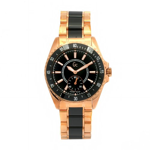 Guess Collection Men's G47000G1 Black Stainless-Steel Swiss Quartz Watch with Black Dial